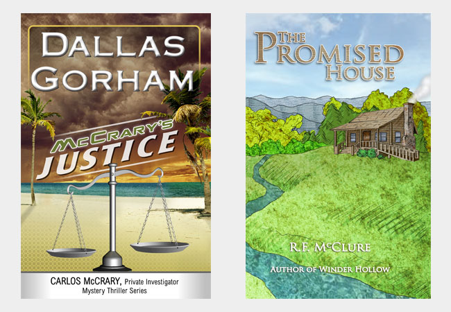 Book covers, McCrary's Justice by Dallas Gorham & The promised house, by R.F. McClure