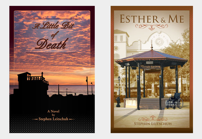 Book Covers, A little bit of death & Esther & me, by Stephen Leitschuh